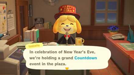 ACNH - Isabelle New Year Announcement