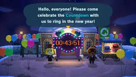 Animal Crossing New Horizons (ACNH) New Year