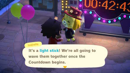 ACNH - Light Stick from Isabelle