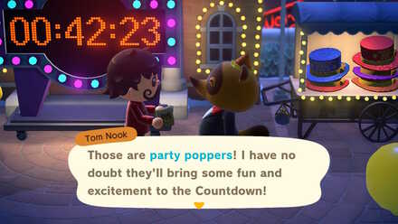 ACNH - Party Poppers from Nook