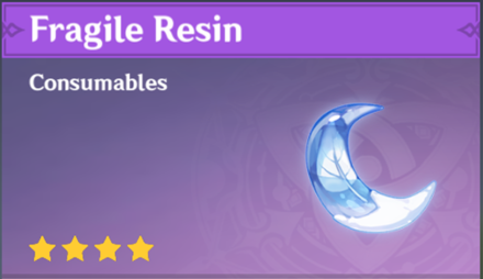 Genshin - Fragile Resin increase in 1.3 Update