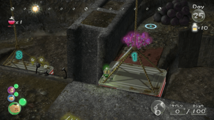 Use the elevator platforms to the north to recover the fruit.png.png