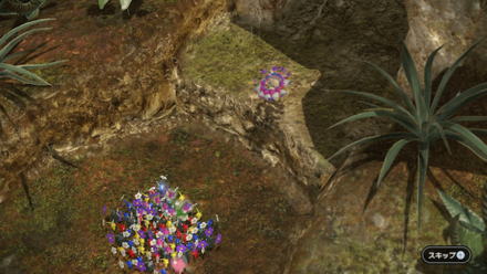 Carry Olimar outside of the cave.png