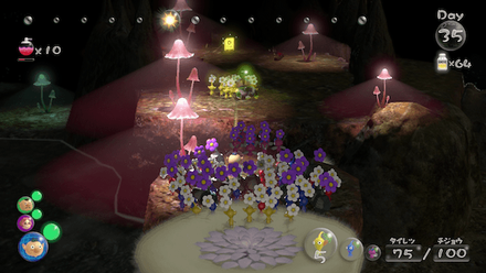 Throw a teammate and 10 yellow pikmin across for lightbulb 3.png