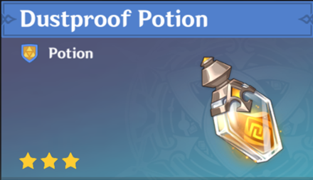 How to Get Dustproof Potion and Effects