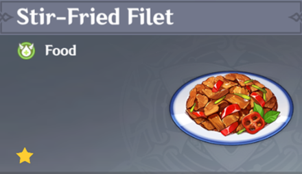 How to Get Stir-Fried Filet and Effects