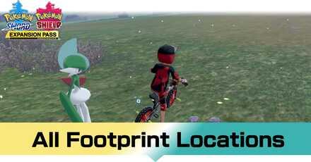 Pokemon Crown Tundra - List of Footprints for Legendary Pokemon