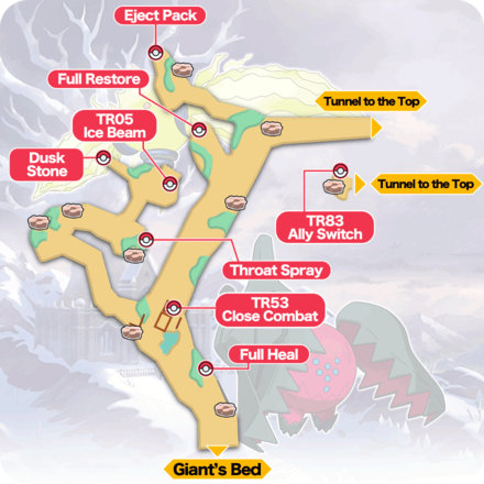 Crown Tundra- Snowslide Slope Item Map