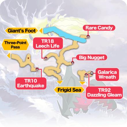 Crown Tundra - Roaring-Sea Caves Item Map