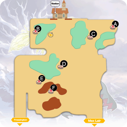 Crown Tundra - Slippery Slope Pokemon Den Map