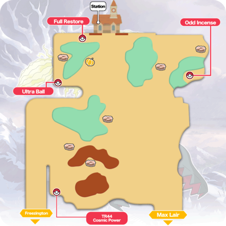 Crown Tundra - Slippery Slope Item Map