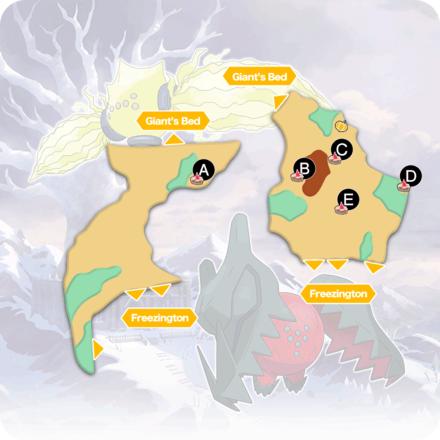 Crown Tundra - Frostpoint Field Pokemon Den Map