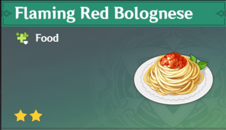 How to Get Flaming Red Bolognese and Effects