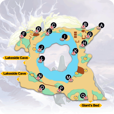 Crown Tundra  - Ballimere Lake Pokemon Den Map