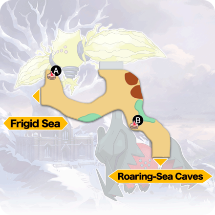 Crown Tundra - Three-Point Pass Pokemon Den Map