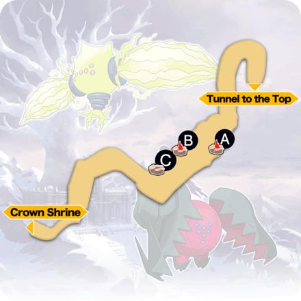 Crown Tundra - Path to the Peak Pokemon Den Map