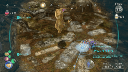Use winged pikmin when the Plasm Wraith flies in the air