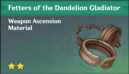 How to Get Fetters of the Dandelion Gladiator and Effects