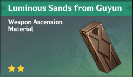 How to Get Luminous Sands from Guyun and Effects