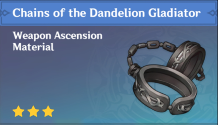 How to Get Chains of the Dandelion Gladiator and Effects