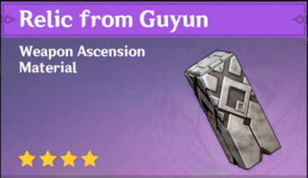 How to Get Relic from Guyun and Effects