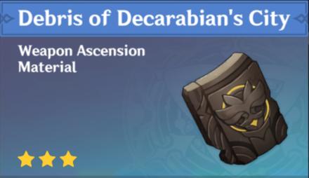 How to Get Debris of Decarabian