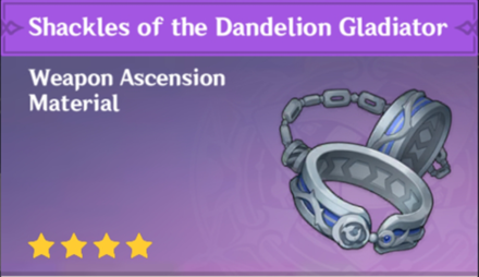 How to Get Shackles of the Dandelion Gladiator and Effects