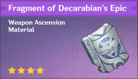 How to Get Fragment of Decarabian