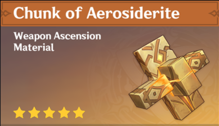 How to Get Chunk of Aerosiderite and Effects