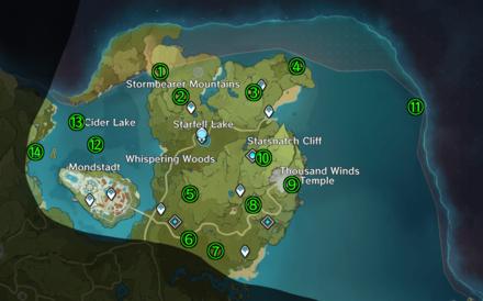 Genshin Impact - Mondstadt - Starfell Valley Map.png