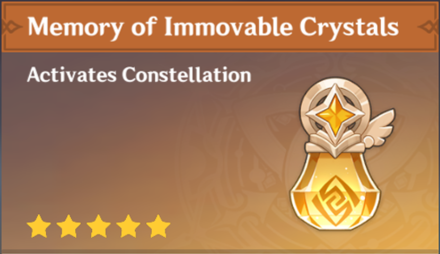 How to Get Memory of Immovable Crystals and Effects