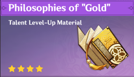 "How to Get Philosophies of ""Gold"" and Effects"