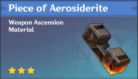 How to Get Piece of Aerosiderite and Effects