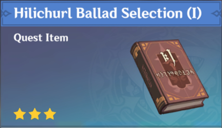 How to Get Hilichurl Ballad Selection (I) and Effects