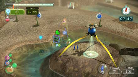 Defeating first enemies with Blue Pikmin.jpg