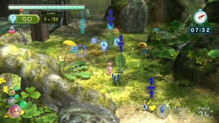 Blue Pikmin attacking Skitter Leaves.jpg