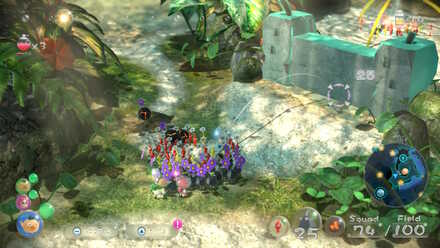 Aim with Pikmin