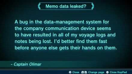 Memo data leaked? Image