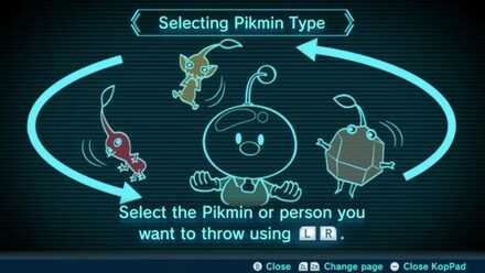 Selecting Pikmin Type Image