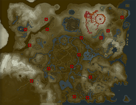 Breath of the Wild (BotW) Stables Map