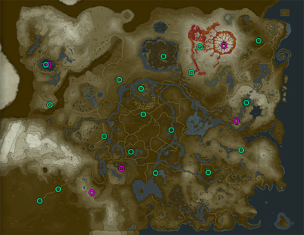 Breath of the Wild (BotW) Memories Map
