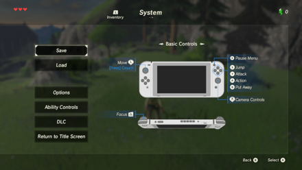 BoTW - Scan Amiibo Step 1