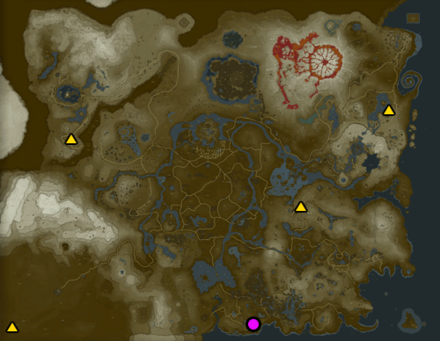 Breath of the Wild (BotW) Great Fairy Map
