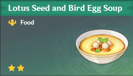 How to Get Lotus Seed and Bird Egg Soup and Effects