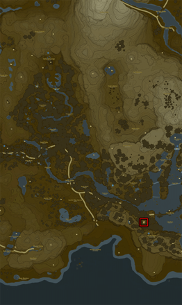 Breath of the Wild (BotW) Stables Bottom Center Map