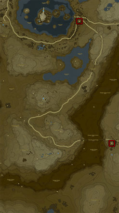Breath of the Wild (BotW) Stables Top Left Map