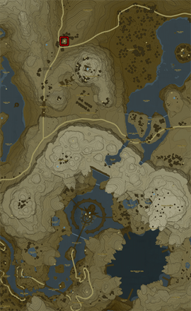 Breath of the Wild (BotW) Stables Top Right Map