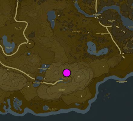 Horse God Location Map