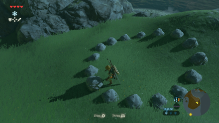 BoTW - Moving Rock on a Rock Pile