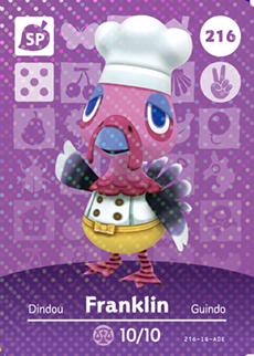 Franklin Amiibo Card